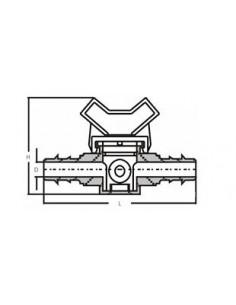 Trójnik prosty PP 32 x 32 x 32 mm
